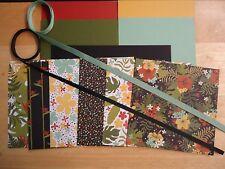 """Stampin Up BOTANICAL GARDENS 6 X 6"""" Designer Paper Card Kit RIBBON"""