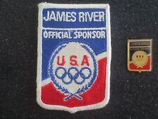 James River - 1996 Atlanta Olympics Sponsor Olympic Patch & Pin - Rare