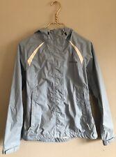 Merrell Light Blue Hooded Zip Up Waterproof Windbreaker Jacket Size Small EUC