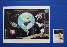 Micronesia (#81, 82) 1989 First Moon Landing 20th Anniversary MNH set