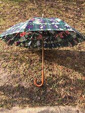 Lauren Ralph Lauren Vintage Plaid/Floral Umbrella Excellent Standard/Classic