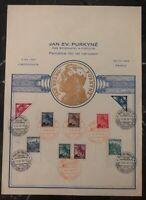 1940 Prague Bohemia Moravia Germany Souvenir Sheet Cover Jan Purkyně