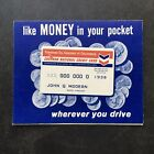 Chevron National Credit Card Oil Company Vintage Application Ephemera Unused