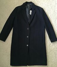 JCrew Stadium Cloth TopCoat Navy Blue Womens 6 New B3898 NWT $350 Sold Out