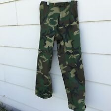 US Military Cold Weather Goretex Trousers Woodland Camouflage Pants Sm Regular