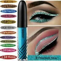 Pro QIBEST Eyeshadow Liquid Waterproof Metallic Glitter Eyeliner Shimmer Makeup
