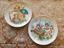 TWO VINTAGE CHILDRENS MELMAC COLLECTOR PLATES WINNIE POOH AND THREE BEARS
