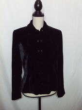 ECU Ralph Lauren Womens Black Rayon/Silk Fitted Velvet Blazer Size 8