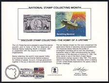 SC72 Souvenir Card 1981 USPS National Stamp Collecting Month