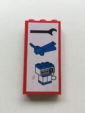 Vintage LEGO Piece  3755pb02 Brick 1 x 3 x 5 with Wrench, Jack Pump Pattern 6393