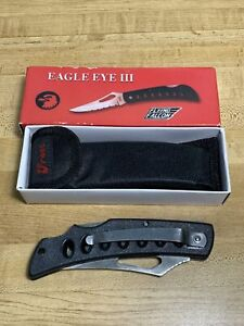 "Frost Cutlery Eagle Eye III Folder Knife (set of 2) 15-109B - Black 5"", JGY"