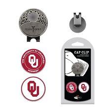 NCAA Oklahoma Sooners Golf Cap Clip and 2 Ball Markers Enamel Team Logo Hat