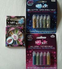 Nail art, glitter, nail caviar & nail bling.3 sets. Bnip.