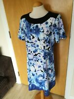 Ladies Dress Size 16 SIMPLY BE Blue Floral Smart Party Wedding Evening Races
