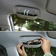 Grey Car Front Sunglasses Holder Hidden Glasses Case For AUDI Q3 Q5 Q7 Toyota