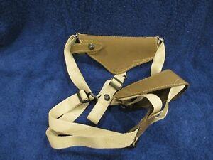 Barsony Leather Horizontal Shoulder Holster for Full-Size 9MM, 40, 45 Pistol