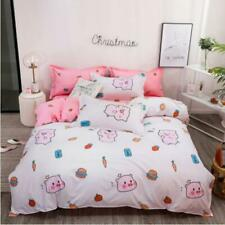 3D Pink Crown Pig Burger KEP8673 Bed Pillowcases Quilt Duvet Cover Kay