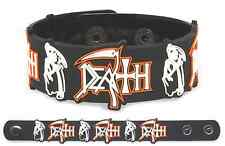 DEATH Rubber Bracelet Wristband Chuck Schuldiner Spiritual Healing Symbolic