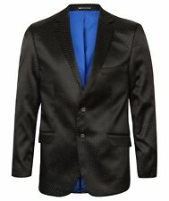 MENS BLACK, BLUE, RED SEQUIN DIAMANTE WEDDING TUXEDO PROM BLAZER SUIT JACKET