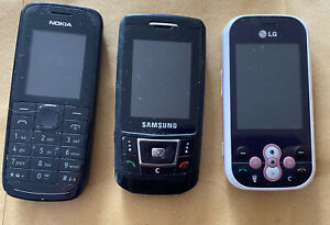 joblot mobile phones, 3, Nokia, Samsung, LG. Probably All Work When Charged.