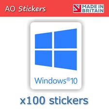 100 x windows 10 BLUE logo vinyl label sticker  for laptop PC repair