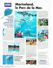 PUBLICITE ADVERTISING 056  1997  Marineland Antibes  le parc de la mer les Raies