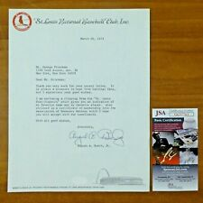 August Busch Jr St. Louis Cardinals Owner Signed Letter with JSA COA