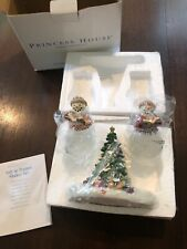 Princess House Salt & Pepper Snowman Christmas Tree #2399 with box