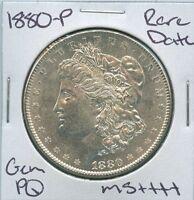 1880-P Morgan Dollar Rare Date Uncirculated US Mint Gem PQ Silver Coin Unc MS+++