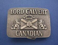 LORD CALVERT CANADIAN IMPORTED WHISKEY Belt Buckle-Calvert Distillers Co. N.Y.C.