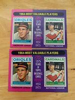 1975 topps brooks robinson Boyer 202 1964-mvp Baseball Card Modt Valuable Player