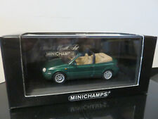 VOITURE VW GOLF CABRIO BRIGHT GREEN PEARL EFFECT 1999 MNICHAMPS 1/43  ETAT NEUF