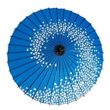 Wagasa Japanese umbrella Antique Japan umbrella ( Sakura spiral blue)