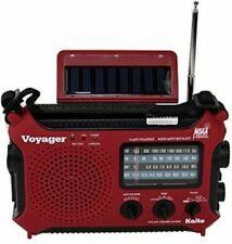 New Solar Weather Alert AM/FM/SW Radio Kaito KA500 W/ USB AC Adapter! Free Ship!