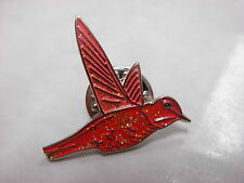 Hummingbird collectable pin badge. Red glitter version. Nice item. Humming bird