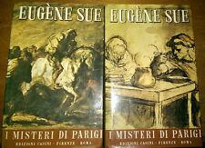 E.SUE I MISTERI DI PARIGI EDIZIONI CASINI DUE VOLUMI 1965