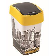 Curver Abfallbehälter 25l Schwingdeckel Mülleimer NEW York City Motiv Eimer
