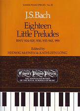 JS Bach - Eighteen Little Preludes BWV 924-928,930,933-943,999 - Piano - ABRSM