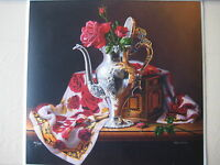 Glafke Still Life Limited Edition Print, Numbered And Signed, 35/295