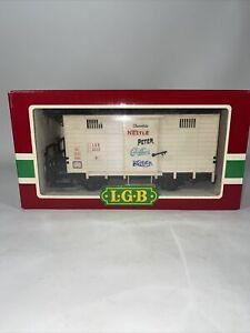 LGB 4032 Nestle Chocolate Boxcar Complete Original Box & Sleeve Germany