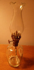 "Kerosene Sailboat Boat Clear Glass Small Wick Lantern 9"" Tall 2 1/2"" Diameter"