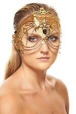 Elegant Gold Venetian Laser Cut Masquerade Mask K2012GD Mardi Gras Prom