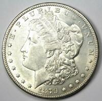 1879-S Reverse of 1878 Morgan Silver Dollar $1 - AU / UNC Detail - Rare Variety!