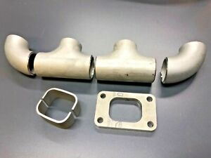 Turbo Exhaust Manifold Kit GT28RS GT25 Stainless Sched 10 Log Style
