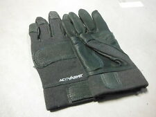 ANSELL ACTIVARMR BLACK COMBAT GLOVE 46-408 104613  SIZE M  Leather/Nomex ~ new