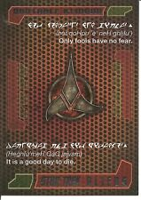 Star Trek Aliens Quotable Klingon Insert Trading Card #Q8