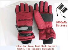 Battery Heated Winter Gloves W/ Rechargeable Battery Keep Warm Outdoor Work Ski