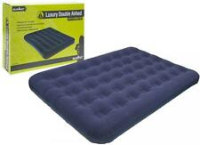 SUMMIT LUXURY DOUBLE FLOCKED AIRBED INFLATABLE CAMPING MATTRESS NEW