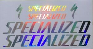 specialized iridescent chrome stickers decals for frame bicycle bike mtb gold