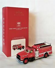 Hallmark 2020 Fire Brigade 1996 Ford F-800 Fire Engine Ornament with Light